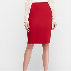 Express High waisted Pencil Skirt with Side Zipper